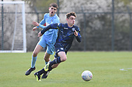 Leeds United forward Niall Huggins on attack during the U18 Professional Development League match between Coventry City and Leeds United at Alan Higgins Centre, Coventry, United Kingdom on 13 April 2019.
