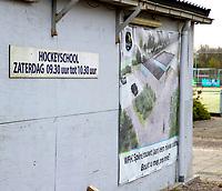 HOOGWOUD  - Ook  de hockeyvelden van hockeyclub Spire  zijn verboden terrein  ivm Coronavirus. COPYRIGHT KOEN SUYK