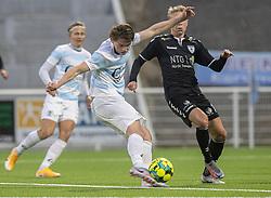Callum McCowatt (FC Helsingør) under kampen i 1. Division mellem FC Helsingør og Kolding IF den 24. oktober 2020 på Helsingør Stadion (Foto: Claus Birch).