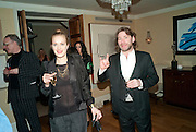 MAT COLLISHAW; POLLY MORGAN, Dinner hosted by Denise Estfandi, for the Council of the Serpentine Gallery to celebrate the opening of  Nancy Spero at the Serpentine Gallery. London.  Upper Brook house. 10a upper brook st.1 March 2011. -DO NOT ARCHIVE-© Copyright Photograph by Dafydd Jones. 248 Clapham Rd. London SW9 0PZ. Tel 0207 820 0771. www.dafjones.com.