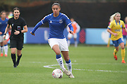 Everton forward Chantelle Boye-Hlorkah (7) runs with the ball during the FA Women's Super League match between Everton Women and Brighton and Hove Albion Women at the Select Security Stadium, Halton, United Kingdom on 18 October 2020.