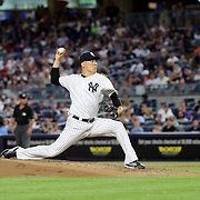 NEW YORK, NEW YORK - July 17: Pitcher Masahiro Tanaka #19 of the New York Yankees pitching during the Boston Red Sox Vs New York Yankees regular season MLB game at Yankee Stadium on July 17, 2016 in New York City. (Photo by Tim Clayton/Corbis via Getty Images)