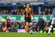 Lazar Markovic of Hull City in action. Premier league match, Everton v Hull city at Goodison Park in Liverpool, Merseyside on Saturday 18th March 2017.<br /> pic by Chris Stading, Andrew Orchard sports photography.