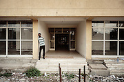 L'ingresso di un nuovo edificio residenziale, Addis Ababa 7 settembre 2014.  Christian Mantuano / OneShot <br /> <br /> The entry of a new residential building, Addis Ababa September 7, 2014.
