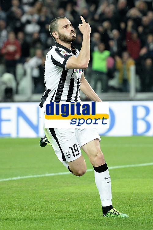 Esultanza gol Leonardo Bonucci Juventus Goal celebration  <br /> Torino 18-04-2015 Juventus Stadium Football Calcio Serie A 2014/2015 Juventus - Lazio  . Foto Image Sport / Insidefoto