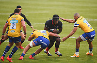Rugby Union - 2019 / 2020 Gallagher Premiership - Round 22 - Saracens vs Bath - Allianz Park<br /> <br /> Saracens' Maro Itoje is tackled by Bath Rugby's Miles Reid and Jonathan Joseph.<br /> <br /> COLORSPORT/ASHLEY WESTERN