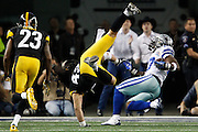 Dallas Cowboys wide receiver Dwayne Harris (17) catches a pass in the 27-24 win over the Pittsburgh Steelers at Cowboys Stadium in Arlington, Texas, on December 16, 2012.  (Stan Olszewski/The Dallas Morning News)