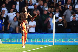 Reading's Madou Barrow celebrates scoring his sides first goal during the Sky Bet Championship match at Elland Road, Leeds.
