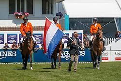 Tam NED, Ehrens Rob, Houtzager Marc, Schuttert Frank, Smolders Harrie<br /> Longines FEI Jumping Nations Cup de France<br /> La Baule 2018<br /> © Hippo Foto - Dirk Caremans<br /> 20/05/2018