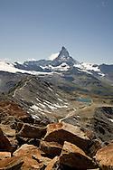 Matterhorn from Hohtalli ridge, near Zermatt, Switzerland