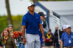 May 16, 2019 - Farmingdale, NY, U.S. - FARMINGDALE, NY - MAY 16: Tiger Woods of the United States during Round One of the PGA Championship Tournament on May 16, 2019, at Bethpage State Park in Farmingdale, NY (Photo by John Jones/Icon Sportswire) (Credit Image: © John Jones/Icon SMI via ZUMA Press)