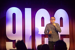 Comedian Sean Lock was the special guest at the launch night for the Glee Comedy Club in Glasgow. Pic copyright Terry Murden @edinburghelitemedia
