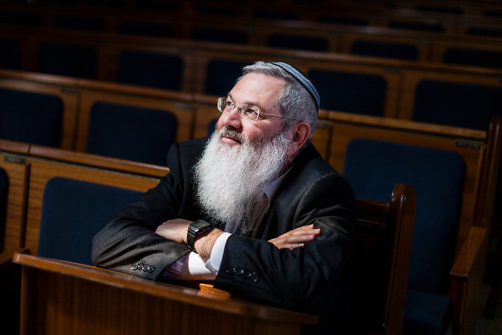 Israel's Deputy Minister of Religious Affairs, Rabbi Eli Ben-Dahan poses for a portrait in Jerusalem, Israel, on March 20, 2013.
