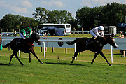 Sadlers Beach ridden by Hayley Turner and trained by Marcus Tregoning in the Novia High Flyer Handicap race. No Thanks ridden by Callum Shepherd and trained by William Jarvis in the Novia High Flyer Handicap race.  - Ryan Hiscott/JMP - 02/08/2019 - PR - Bath Racecourse - Bath, England - Race Meeting at Bath Racecourse