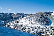winter morning after fresh snowfall in Park City, Utah