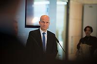 DEU, Deutschland, Germany, Berlin, 09.10.2018: Der CDU/CSU-Fraktionsvorsitzende Ralph Brinkhaus bei einem Pressestatement vor der Fraktionssitzung der CDU/CSU.