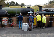 United Kingdom, Kidderminster, 25 October 2009: Railway enthusiasts watch The Tornado at Bridgnorth station on the Severn Valley Railway. The Tornado is a Peppercorn class A1 Pacific steam locomotive. Photo by Peter Horrell / http://peterhorrell.com...