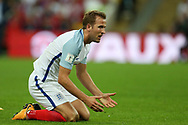 Harry Kane of England looks on. FIFA World cup qualifying match, European group F, England v Slovakia at Wembley Stadium in London on Monday 4th September 2017.<br /> pic by Andrew Orchard, Andrew Orchard sports photography.