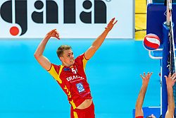 17-02-2019 NED: National Cupfinal Draisma Dynamo - Abiant Lycurgus, Zwolle<br /> Dynamo surprises national champion Lycurgus in cup final and beats them 3-1 / Stefan Boermans #5 of Dynamo