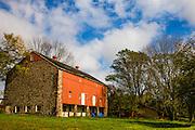An old barn in the Pennsylvania countryside, New Hope, Pennsylvania, USA
