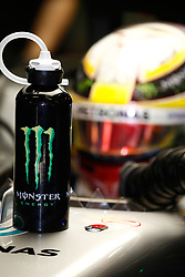 March 7, 2017 - Barcelona, Cataluna, Spain - Motorsports: FIA Formula One World Championship 2017, Test in Barcelona,.Lewis Hamilton (GBR, Mercedes AMG Petronas) Monster bottle (Credit Image: © Hoch Zwei via ZUMA Wire)