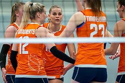 Nika Daalderop of Netherlands in action during the Women's friendly match between Netherlands and Belgium at Sporthal De Basis on may 19, 2021 in Sliedrecht, Netherlands (Photo by RHF Agency/Ronald Hoogendoorn)