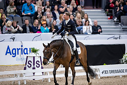 KITTEL Patrik (SWE), Delaunay OLD<br /> Göteborg - Gothenburg Horse Show 2019 <br /> FEI Dressage World Cup™ Final I<br /> Int. dressage competition - Grand Prix de Dressage<br /> Longines FEI Jumping World Cup™ Final and FEI Dressage World Cup™ Final<br /> 05. April 2019<br /> © www.sportfotos-lafrentz.de/Stefan Lafrentz