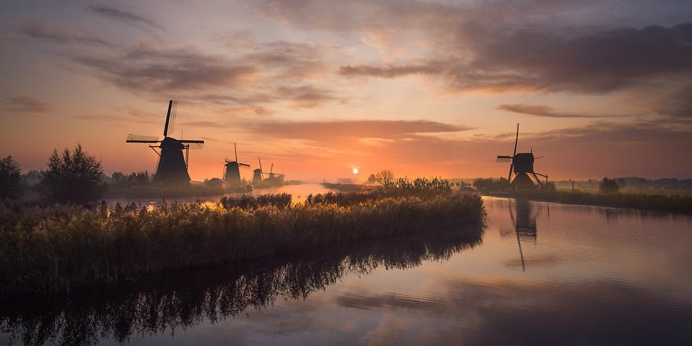 Kinderdijk, Netherlands. Oct 2019.