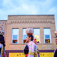 080615  Adron Gardner/Independent<br /> <br /> Zuni Olla Maidens walk Historic Highway 66 during the Gallup Inter-Tribal Indian Ceremonial parade at the McKinley County Courthouse in Gallup Thursday.