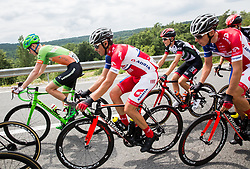 Jure Golcer (SLO) of KK Adria Mobil and Gorazd Per (SLO) of KK Adria Mobil during Stage 1 of 24th Tour of Slovenia 2017 / Tour de Slovenie from Koper to Kocevje (159,4 km) cycling race on June 15, 2017 in Slovenia. Photo by Vid Ponikvar / Sportida