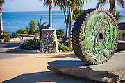 Interlocking Gear Sculpture at Heisler Park in Laguna Beach