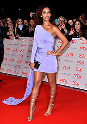 Rochelle Humes attending the National Television Awards 2018 held at the O2 Arena, London. PRESS ASSOCIATION Photo. Picture date: Tuesday January 23, 2018. See PA story SHOWBIZ NTAs. Photo credit should read: Matt Crossick/PA Wire