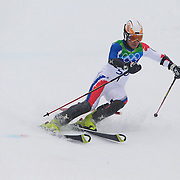 Winter Olympics, Vancouver, 2010.Alexandr Horoshilov, Russia, in action during the Alpine Skiing, Men's Slalom at Whistler Creekside, Whistler, during the Vancouver Winter Olympics. 27th February 2010. Photo Tim Clayton