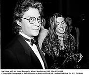 Joe Kluge with his sister, Samantha Kluge. Manhattan. 1992. Film 921161f12<br />© Copyright Photograph by Dafydd Jones<br />66 Stockwell Park Rd. London SW9 0DA<br />Tel 0171 733 0108