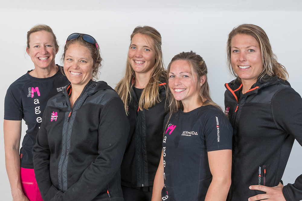 2nd July 2017. GKSS Match Cup Sweden, Marstrand, Sweden. SALLY BARKOW (Second Left) and her team,  TEAM MAGENTA 32.