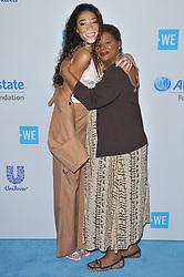(L-R) Winnie Harlow and Mom arrives at We Day California 2017 held at The Forum in Inglewood, CA on Thursday, April 27, 2017. (Photo By Sthanlee B. Mirador) *** Please Use Credit from Credit Field ***