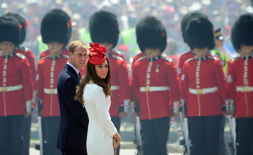 The Duke and the Duchess of Cambridge arrive to take part in Canada Day festivities on Parliament Hill in Ottawa on Friday, July 1, 2011. THE CANADIAN PRESS/Sean Kilpatrick