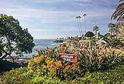 Heisler Park Sculpture and Sign in Laguna Beach California