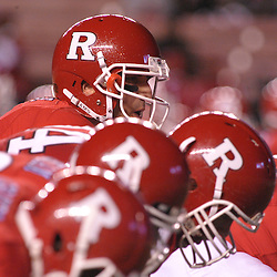 Nov 12, 2009; Piscataway, NJ, USA; Rutgers quarterback Tom Savage (7) lines up under center during first half NCAA Big East football action between Rutgers and South Florida at  Rutgers Stadium.