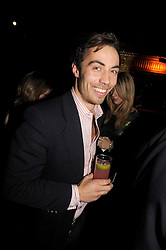 JAMES MIDDLETON at the Tatler Magazine Little Black Book party at Tramp, 40 Jermyn Street, London SW1 on 5th November 2008.