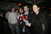 Josh Sykes, Fred Sykes,  Tom Sykes and Plum Sykes.  Book launch for ' What Did I Do last night' by Tom Sykes. Century Club. Shaftesbury Ave. London. 16 January 2006. -DO NOT ARCHIVE-© Copyright Photograph by Dafydd Jones. 248 Clapham Rd. London SW9 0PZ. Tel 0207 820 0771. www.dafjones.com.