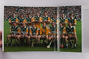 Offaly-All-Ireland Hurling Champions 1998. Back Row: K Martin, J Pilkington, M Duignan, K Kinahan, G Hanniffy, H Rigney, J Erity, B Whelahan. Front Row: B Dooley, J Troy, S Whelahan, S Byrne, Joe Dooley, M Hanamy, J Dooley.
