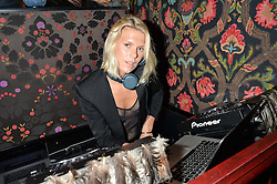 ALEXANDRA RICHARDS at a party hosted by fashion website Farfetch to launch i.am + EPs headphones hosted by Will.i.am at Loulou's, 5 Hertford Street, London on 16th September 2016.