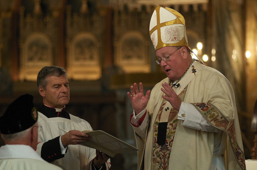 Archbishop Dolan begins the Ceremony of Investiture, Sunday Oct. 12 2008. Those Invested included 31 Knights, 29 Ladies, seven Priest Knights, and four Bishop Knights.