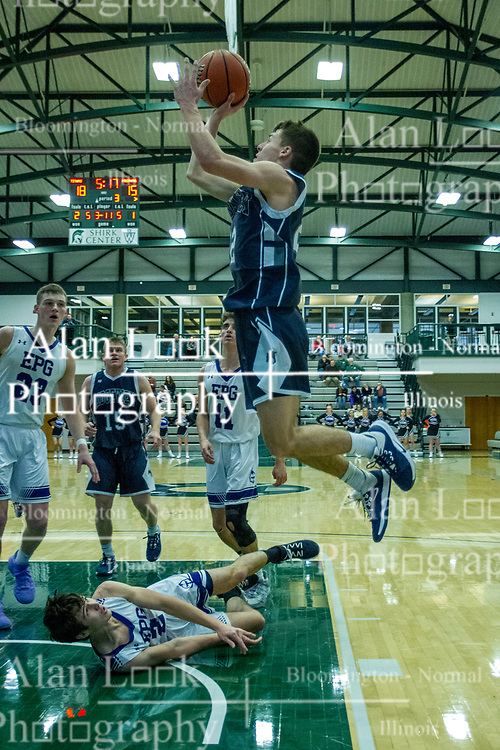 20 January 2020: Ridgeview Mustangs v El Paso Gridley (EPG) Titans, 2nd Round Basketball games during the 109th 2020 McLean County Tournament at Shirk Center in Bloomington IL<br /> <br /> Photo by Alan Look