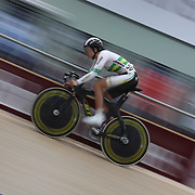 Ashlee Ankudinoff, Australia, in action during the Women Omnium, Flying Lap during the 2012 Oceania WHK Track Cycling Championships, Invercargill, New Zealand. 21st November 2011. Photo Tim Clayton