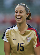 25 August 2007: Kate Markgraf. The United States Women's National Team defeated the Women's National Team of Finland 4-0 at the Home Depot Center in Carson, California in an International Friendly soccer match.