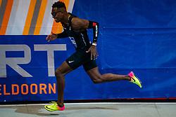Liemarvin Bonevacia in action on the 400 meter during AA Drink Dutch Athletics Championship Indoor on 20 February 2021 in Apeldoorn.