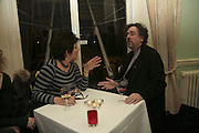 RUBY WAX AND TIM BURTON, PARTY AT DARTMOUTH HOUSE AFTER A PREMIERE SCREENING OF PERFUME AT THE CURZON. LONDON.<br />5 December 2006. ONE TIME USE ONLY - DO NOT ARCHIVE  © Copyright Photograph by Dafydd Jones 248 CLAPHAM PARK RD. LONDON SW90PZ.  Tel 020 7733 0108 www.dafjones.com