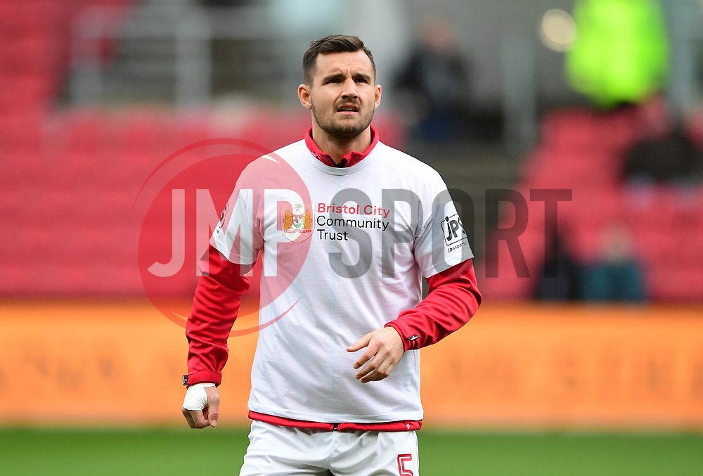 Bailey Wright of Bristol City  warms up  - Mandatory by-line: Joe Meredith/JMP - 10/02/2018 - FOOTBALL - Ashton Gate Stadium - Bristol, England - Bristol City v Sunderland - Sky Bet Championship